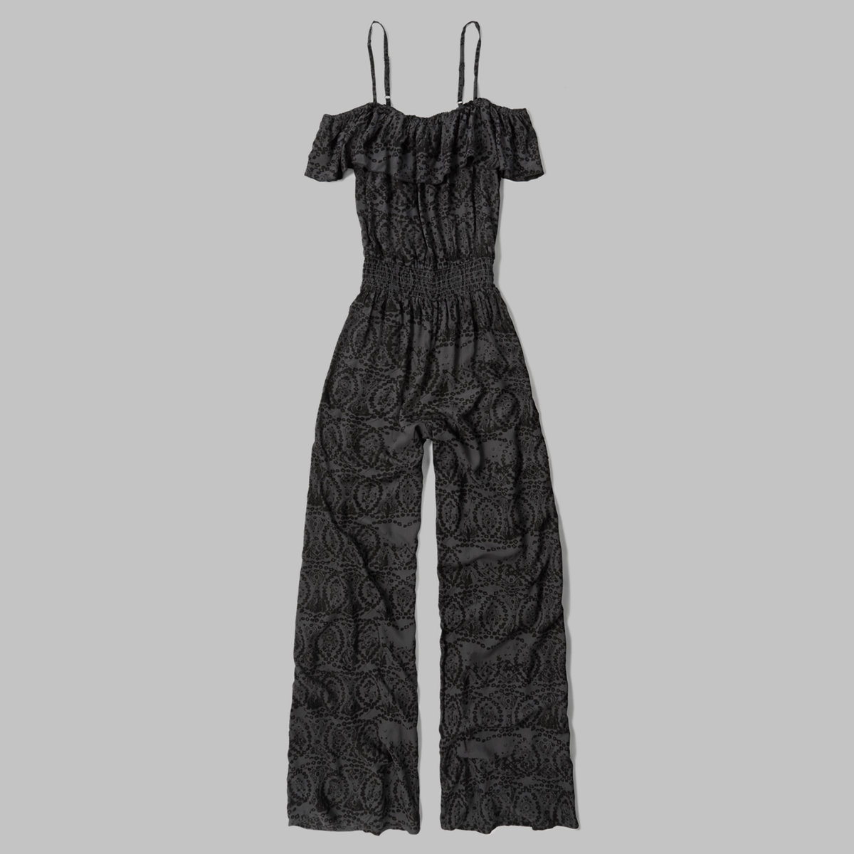 Patterned Ruffle Jumpsuit
