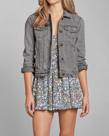 Womens Gray Denim Jacket