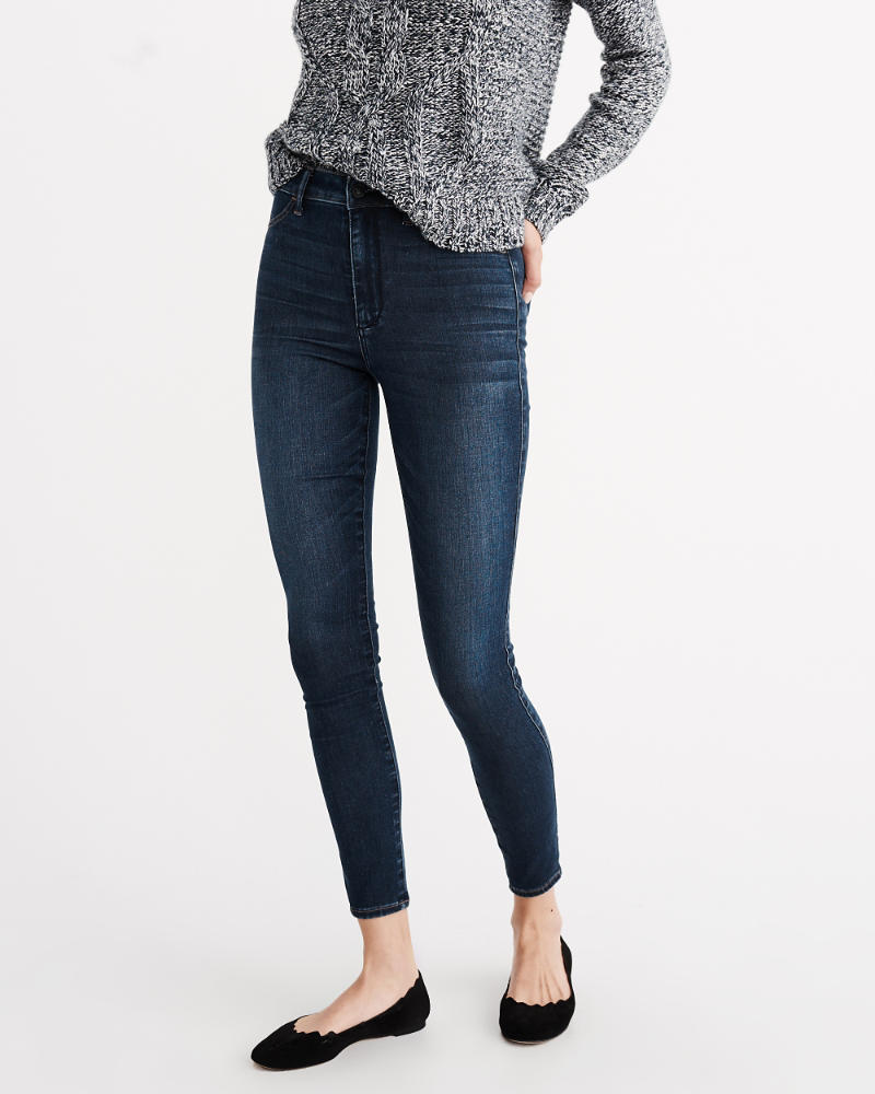 Womens High Rise Jean Leggings