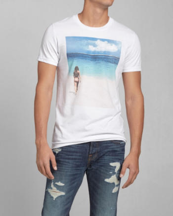 ANF Photoreal Beach Graphic Tee