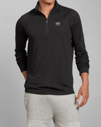 Mens A&F Active Quarter Zip Pullover