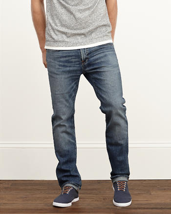 ANF Slim Straight Everyday Stretch Jeans