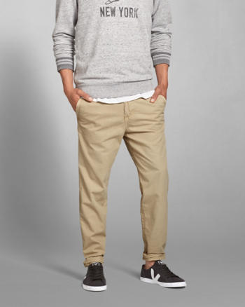 Mens A&F Lightweight Taper Chinos