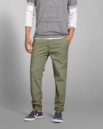 ANF A&F Lightweight Taper Chinos