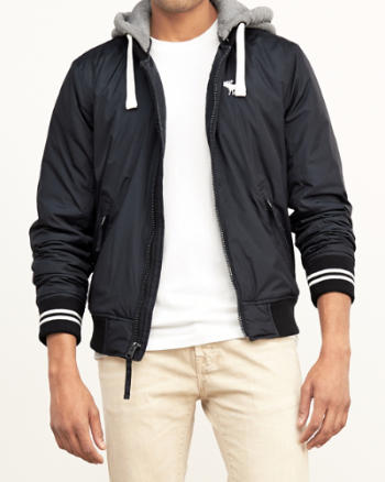 ANF Fleece Lined Baseball Jacket