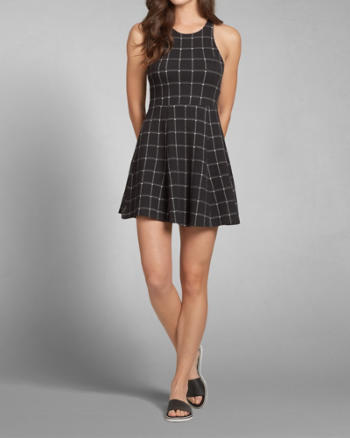 Womens Plaid Skater Dress