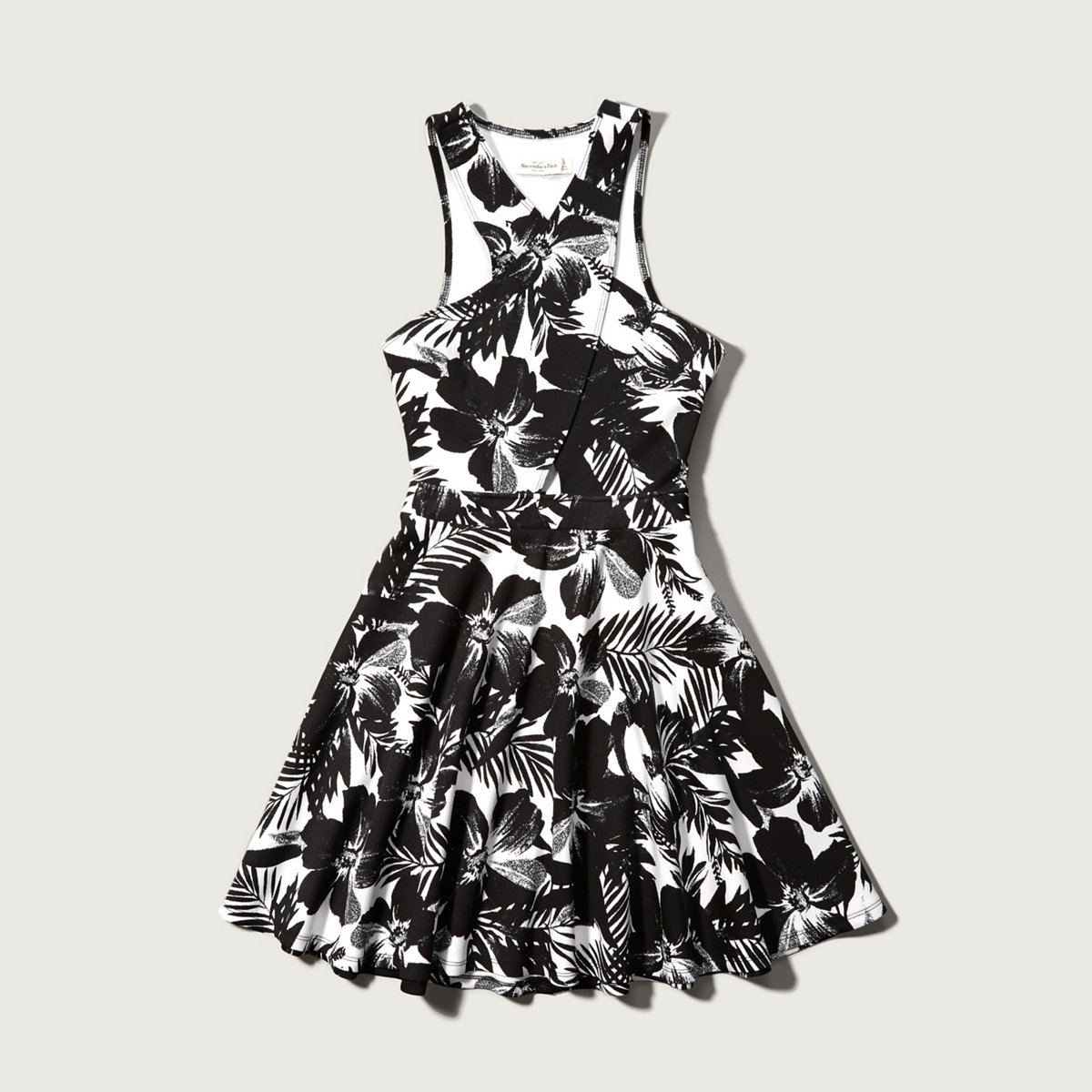 Floral Neoprene Wrap Dress