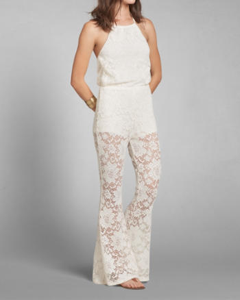 Womens Lace Halter Jumpsuit