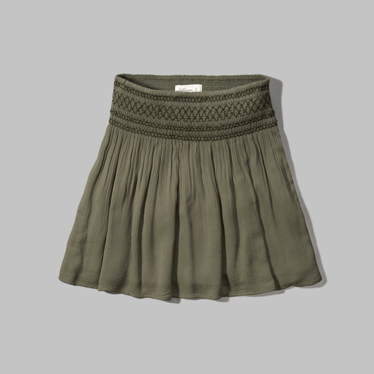 Embroidered Smocked Skater Skirt