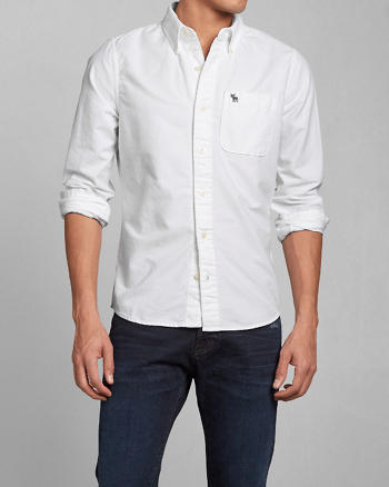 ANF Solid Oxford Shirt