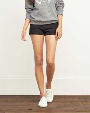 Womens Ponte Tap Shorts