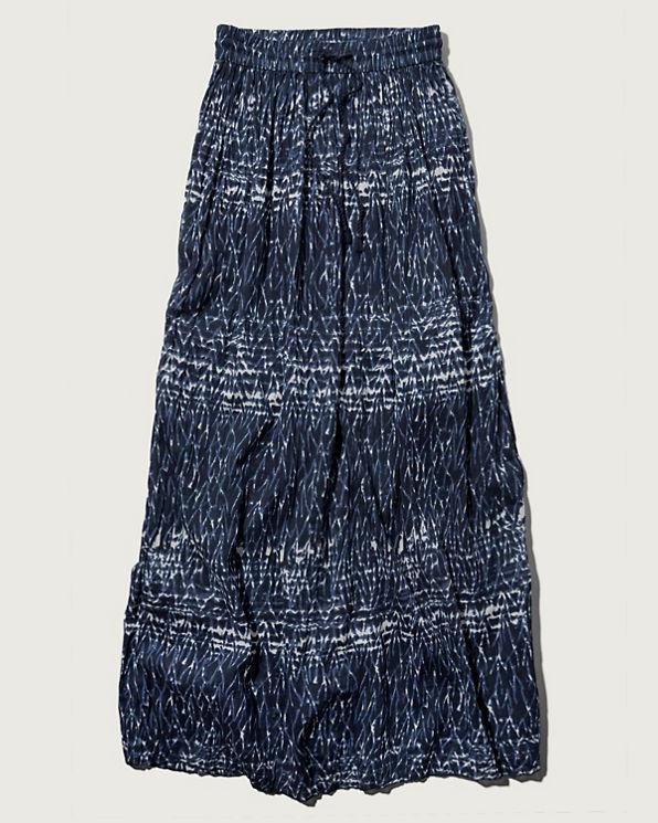 womens pattern pleated maxi skirt womens sale