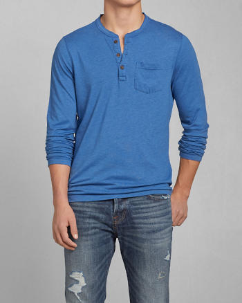 ANF Muscle Fit Pocket Henley