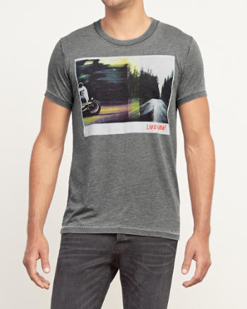 Mens Shades of Grey Graphic Tee