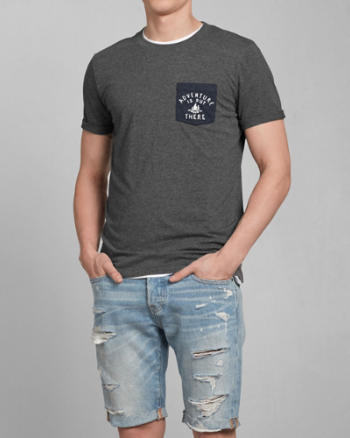 Mens Adventure Graphic Pocket Tee