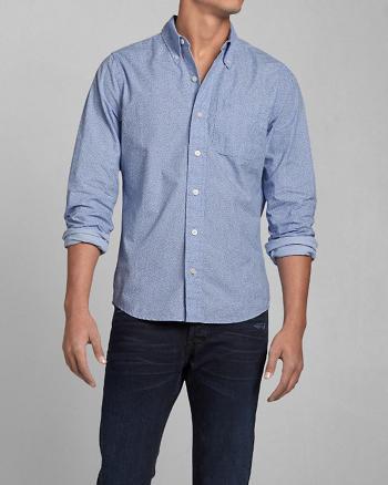 ANF Vine Print Poplin Shirt