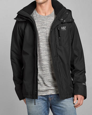 ANF A&F All-Season Weather Warrior Hooded Jacket