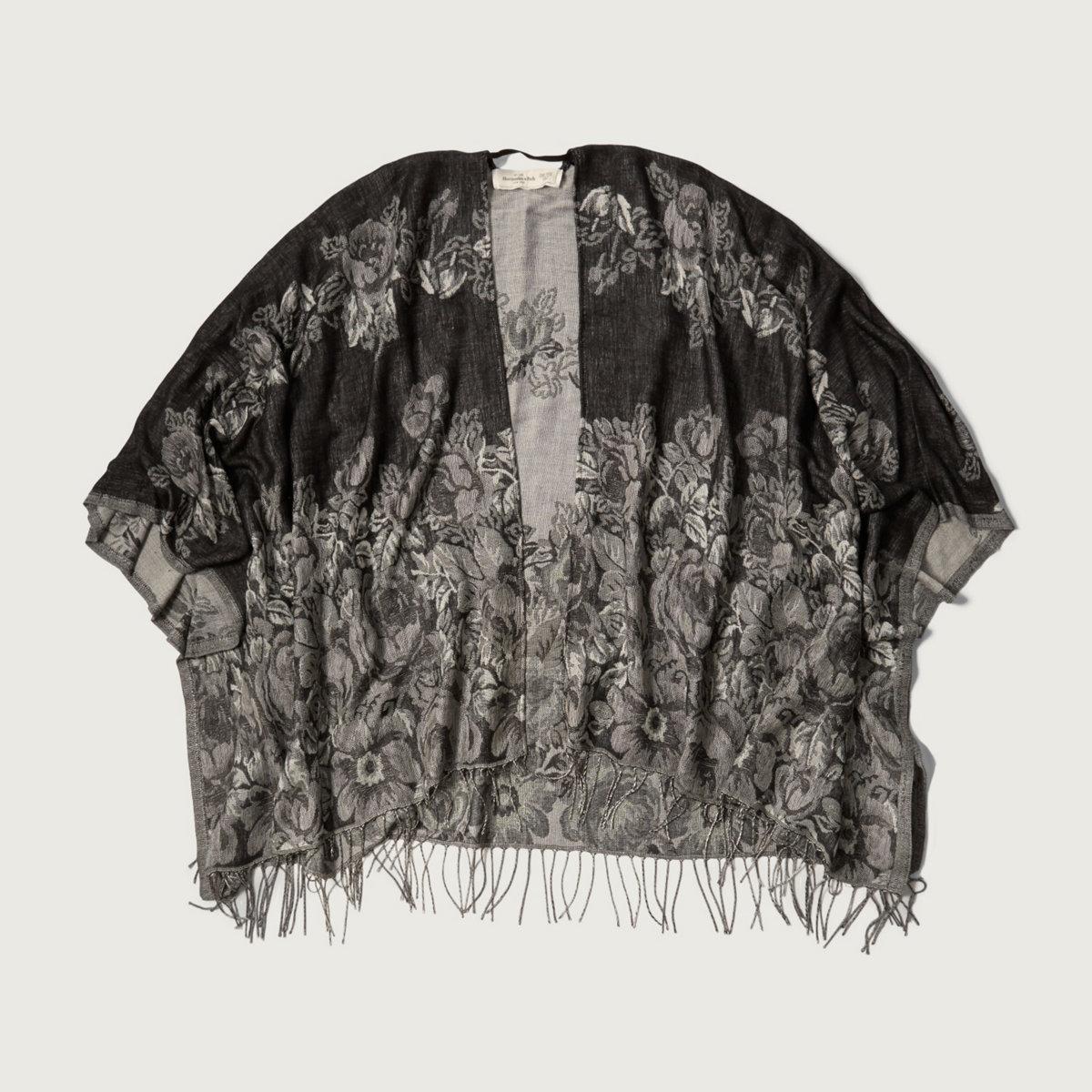 Patterned Blanket Kimono