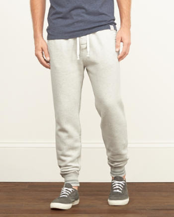 Mens A&F Tipped Jogger Sweatpants