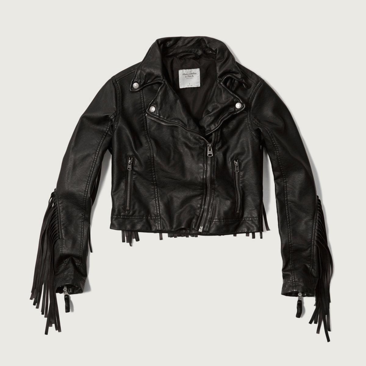 Fringe Vegan Leather Moto Jacket