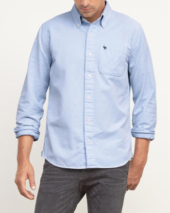 Mens Muscle Fit Iconic Oxford Shirt