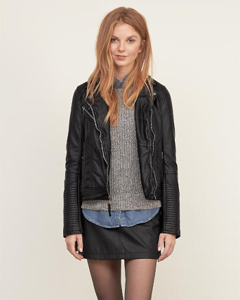 ANF Vegan Leather Biker Jacket