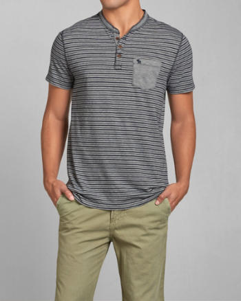 ANF Contrast Pocket Henley