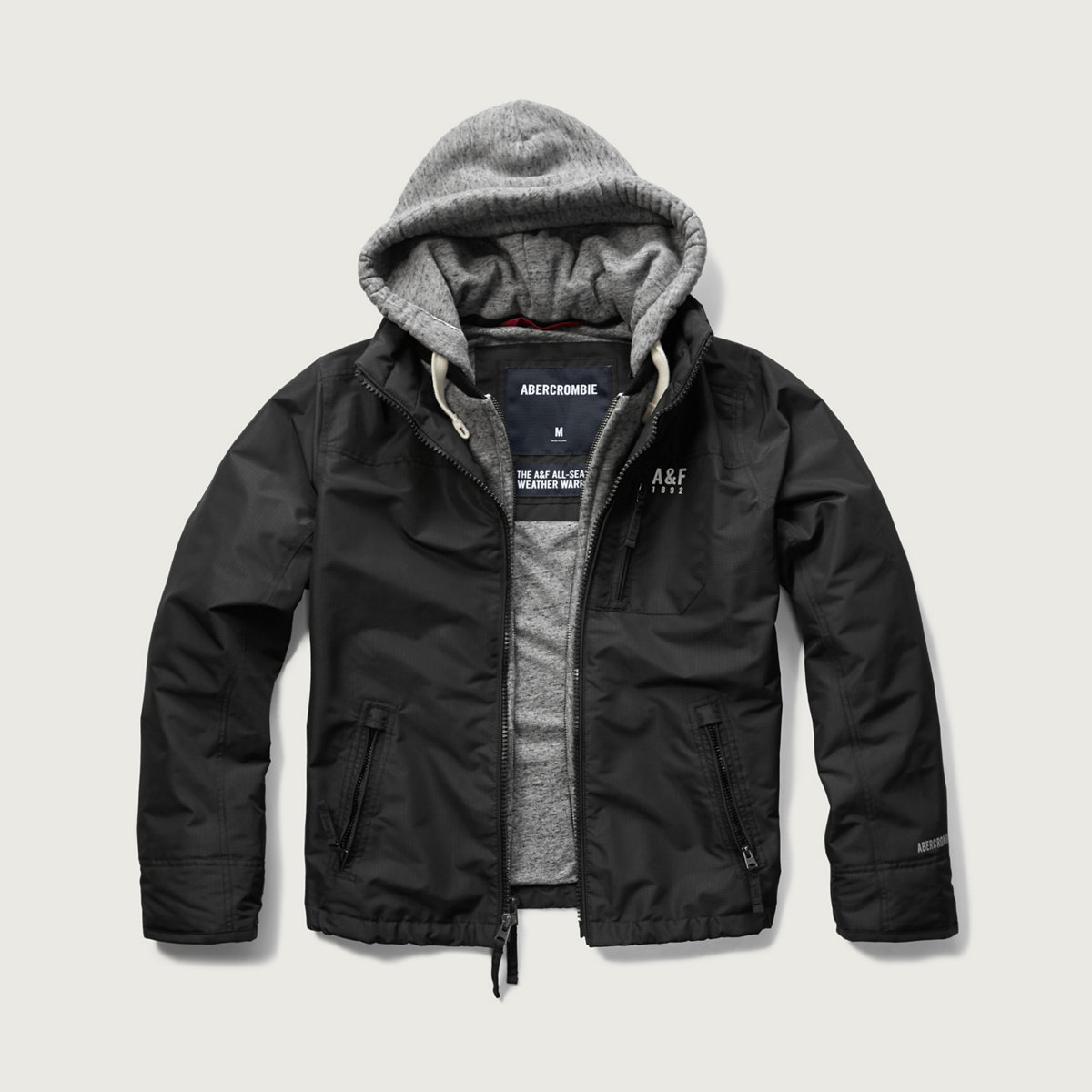 A&F All-Season Weather Warrior Hooded Jacket