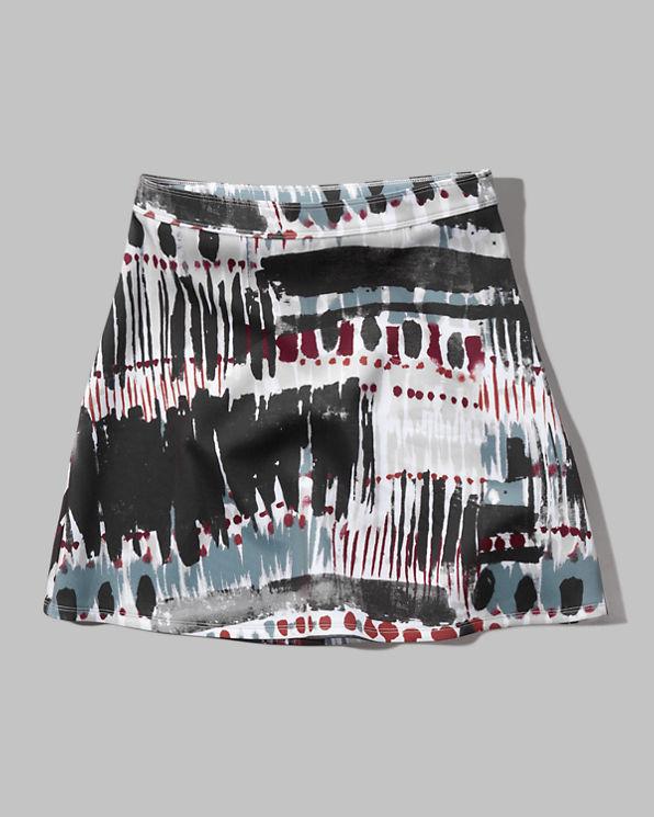 womens pattern neoprene a line skirt womens sale