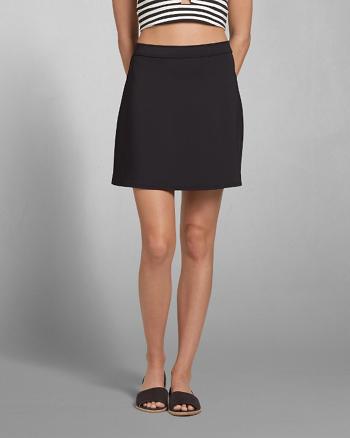 ANF Solid Neoprene A-Line Skirt