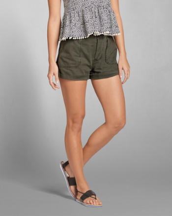 Womens Military Twill Shorts