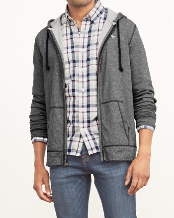 ANF Contrast Lined Lightweight Hoodie