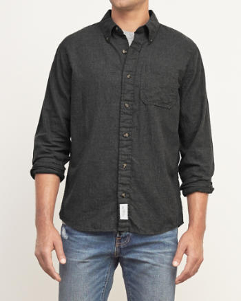 Mens Muscle Fit Twill Shirt