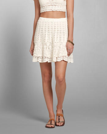 Womens Crochet Skater Skirt