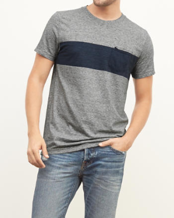 ANF Chest Stripe Pocket Tee