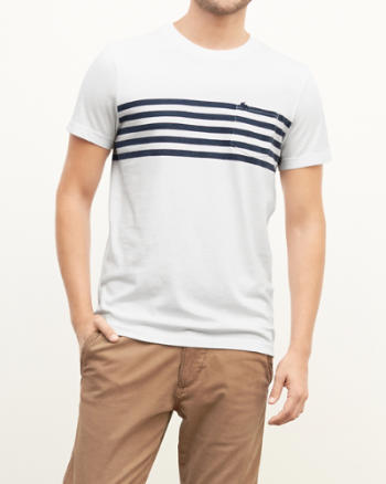Mens Chest Stripe Pocket Tee