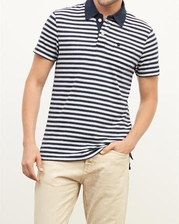 ANF Striped Pocket Polo