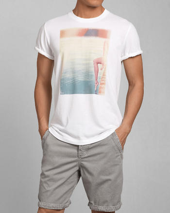 ANF Poolside Photoreal Graphic Tee