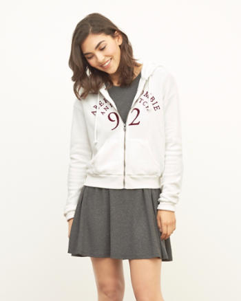 Womens Embroidered Logo Hoodie