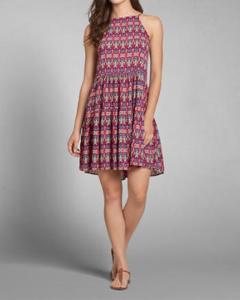 Womens Patterned Swing Dress