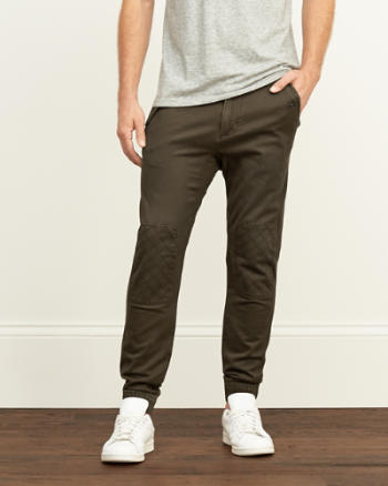 Mens Quilted Jogger Chinos