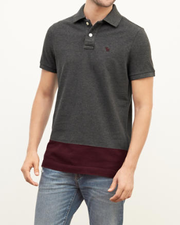 Mens Colorblock Polo