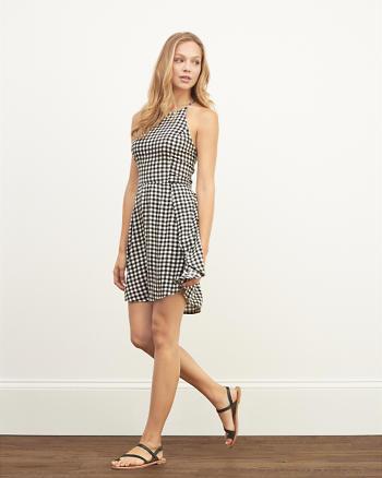 ANF Lace High Neck Skater Dress