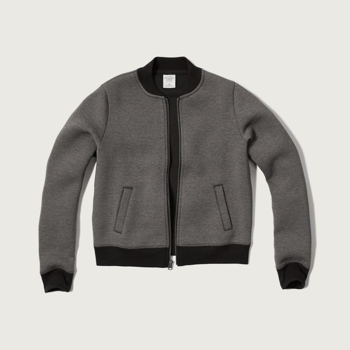 Athletic Fleece Bomber Jacket