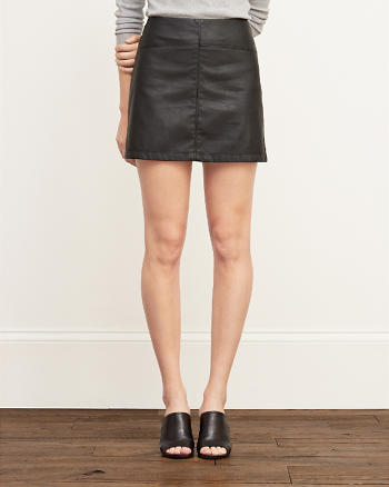 ANF Faux Leather A-Line Skirt