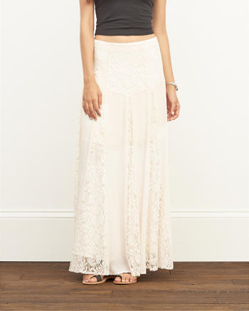 ANF Lace Panel Maxi Skirt