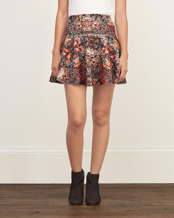 ANF Patterned Drop Yoke Skater Skirt