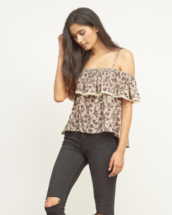 Womens Off-The-Shoulder Blouse