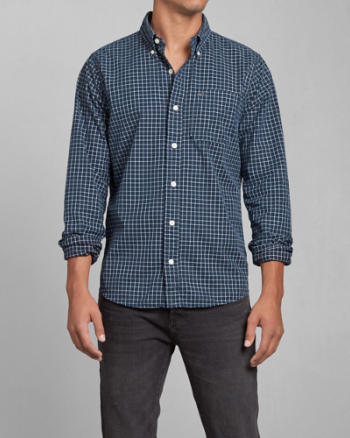 Mens Check Pocket Shirt