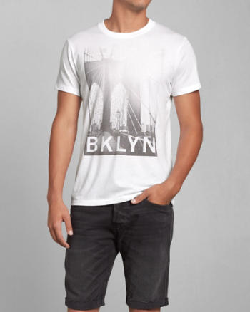 Mens Brooklyn Photoreal Graphic Tee
